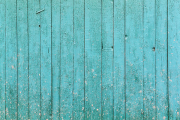 Old blue wooden background.