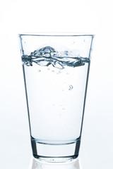 low splashing glass of water