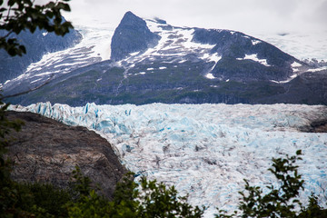 Mendenhall Glacier in Juneau Alaska national monument