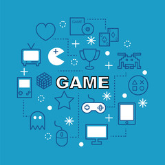 game minimal outline icons