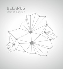 Belarus grey vector Europe outline map