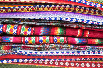 Bolivian traditional fabrics.