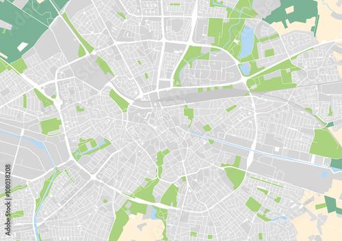 vector city map of Eindhoven, Netherlands\