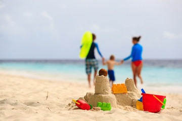 family beach vacation concept