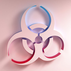 Biohazard symbol. 3D illustration