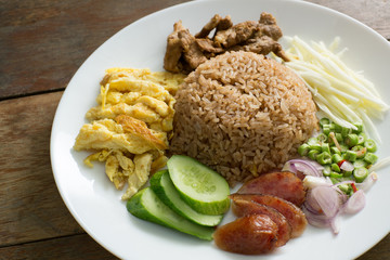 Rice Seasoned with Shrimp Paste