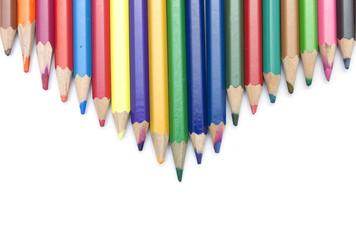 Colour Pencils Invert Triangle Form
