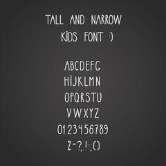 roman tall& narrow alphabet