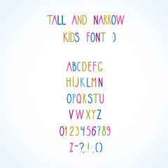 roman tall& narrow alphabet