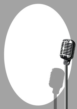 Musical Event Microphone Poster