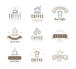 Coffee Icons - Labels