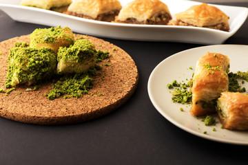 Turkish dessert with special background