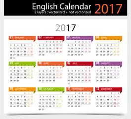 English Calendar 2017 /