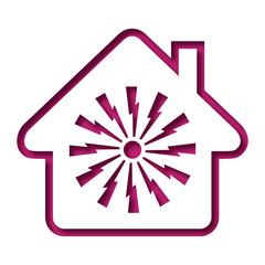 Logo maison et alarme.