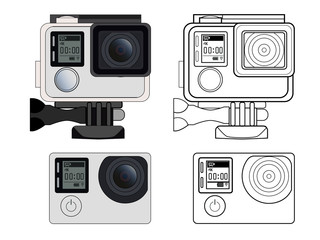 Action camera vector stock illustration