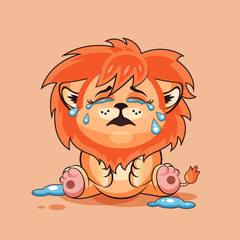Lion cub is crying
