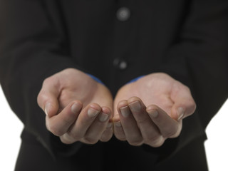 human hand in begging gesturing