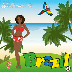 Welcome to Brazil, vector illustration