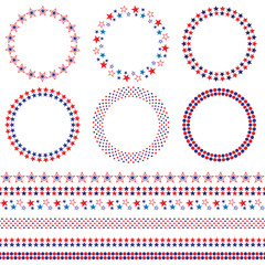 4th of July frames and borders