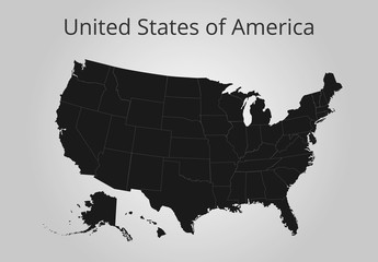 Map of the USA. Image with clipping path. Vector illustration.