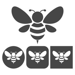 Bee icon - vector icons set
