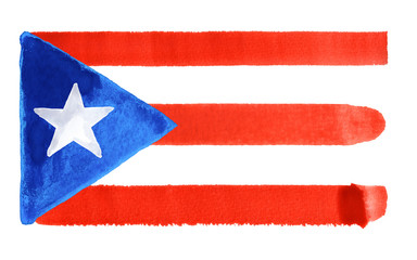 Puerto Rico flag illustration