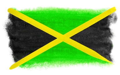 Jamaica flag illustration