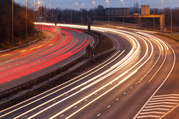 long exposure - motorway highway