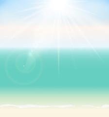 Summer Time Seaside Vector Background Illustration