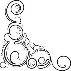 Ornamental floral corner. Vector illustration for your design or