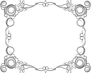 Retro-styled decorative vintage vector frame. Vector illustratio