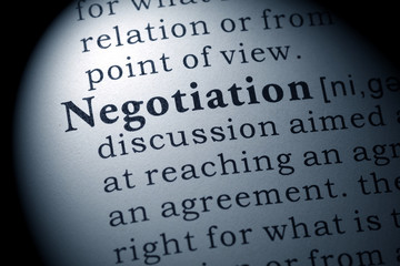 Wall Mural - definition of negotiation