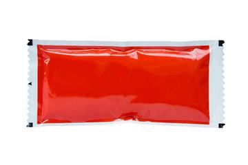 tomato sauce ketchup sachet package