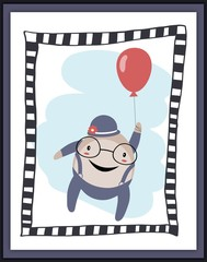 Humpty Dumpty with balloon card