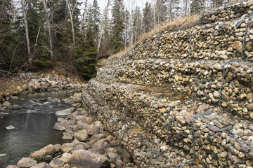 Creek retaining wall