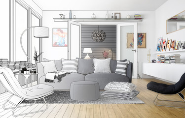 Wohnzimmer (Entwurf)