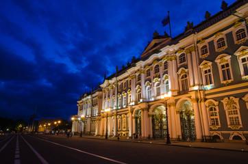 winter palace, hermitage. Palace Square, St. Petersburg.