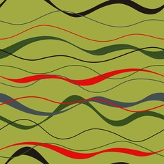 Wavy lines. Seamless vector pattern