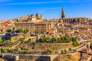 Cathedral Churches Medieval City Toledo Spain