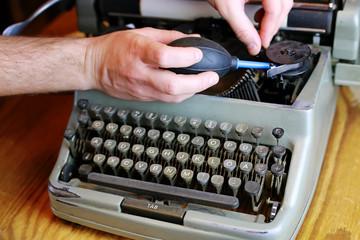 retro typewriter letter