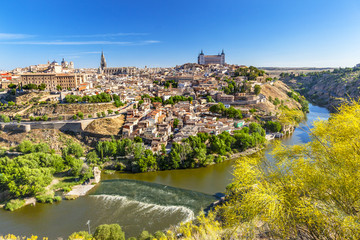 Alcazar Medieval City Tagus River Toledo Spain