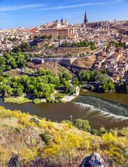 Alcazar Medieval City Tagus River Toledo Spain