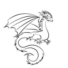 Stylized image of Dragon