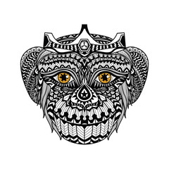 Ethnic Monkey/ african / indian / totem for shirt design,logo and icon