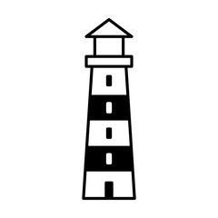 Lighthouse / light house beacon line art icon for apps and websites