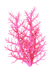 3D Illustration Pink Coral on White