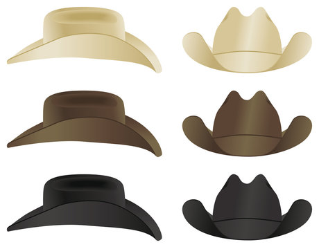 A country and western cowboy hat selection