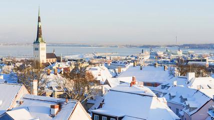 Panorama of winter Tallinn