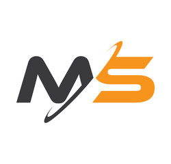 MS initial logo with double swoosh