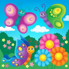 Happy butterflies theme image 4